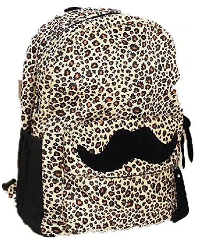 hot-travel-girl-mustache-canvas-leopard-school-book-campus-bag-backpack
