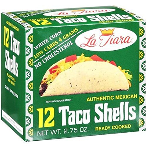 La Tiara White Taco Shell Box of 12 (Pack of 6 Boxes, 72 Total) (Taco Cheese compare prices)