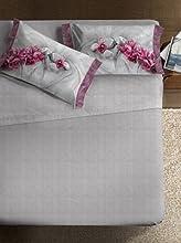 Ipersan Completo fotografico Fine-Art Disegno Asian grigio/rosa matrimoniale