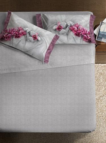 Ipersan Completo letto fotografico Fine-Art Disegno Asian grigio/rosa matrimoniale