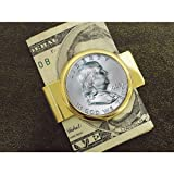 Franklin Silver Half Dollar Goldtone Money Clip