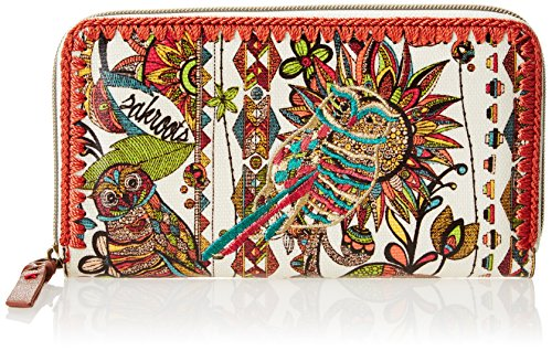 Sakroots Artist Circle Large Wallet Bifold, Natural Spirit Desert, One Size