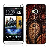 BZ Gadget Vintage Retro Art Texture Pattern Design Hard Case Cover for HTC One (M7)