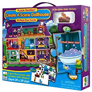 Learning Journey Puzzle Doubles - Create A Scene Dollhouse