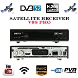 FTA Digital HD Satellite TV Receiver DMYCO Full 1080P V9S PRO DVB-S/S2 Free To Air Receptor Video Decoder Support PowerVu,DRE & Bisskey, EPG, Network Sharing + USB WIFI Dongle