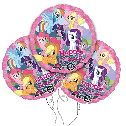 "My Little Pony Happy Birthday 18"" Mylar Balloon 3pk - 1"