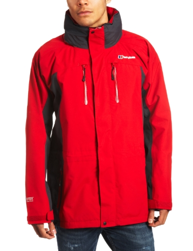 Berghaus High Trails Jacket Men's Gore-Tex Lined - Chilli Pepper/Grey, Medium