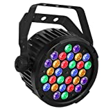 Stage Lights, OPPSK 90W Par Lights with RGBA/UV 30LEDs Par by DMX IR Remote Control Sound Activated for Church Wedding Birthday Party DJ Stage Lighting (Color: 90W RGBA/UV 30LEDs Par Lights)