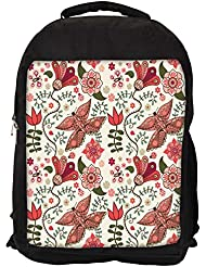 """Snoogg Mixed Butterfly Casual Laptop Backpak Fits All 15 - 15.6"""" Inch Laptops"""