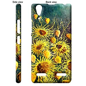 TheGiftKart™ Paint Art Sunflowers on Canvas Back Cover Case for Lenovo A6010 - Multicolor