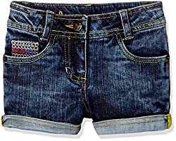 UFO Girls' Shorts (AW-16-DF-GKT-396_Indigo_10 - 11 years)