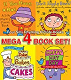 Four Silly Rhyming Picture Books - If You Have A Hat, Dont Juggle Bees, Jake Bakes Cakes, Happy Hat Day - Mega Four Book Set