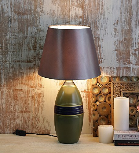 Green Vase Ceramic Lamp