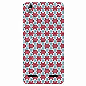 Red & White Rounded Design - Mobile Back Case Cover For Lenovo A6000