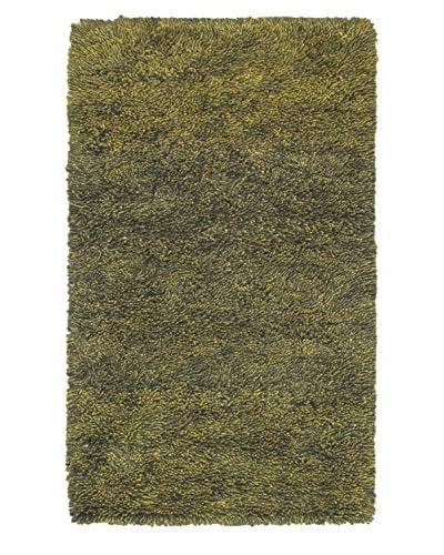Hand-Knotted Plateau Shag, Green, 3' x 5'