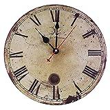 Soledi 壁掛け時計 アンティーク調時計 北欧イメージ カントリー おしゃれで人気 インテリア カラフル(Z)