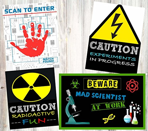 Mad Scientist Science Party Supply Decorations Invites Favors (Poster Decor) (Scientist Party Supplies compare prices)