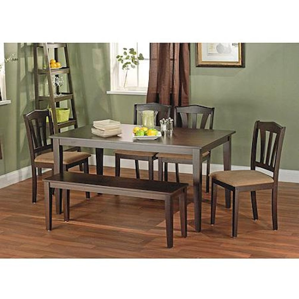Metropolitan Brown Espresso 6 Piece Dining Set With Table