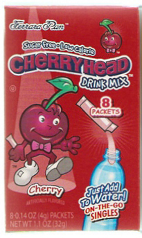 Ferrara Pan Candy Lemonhead Cherryhead Drink Mix : Powdered Soft Drink ...