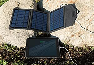 Instapark® 10 Watt Solar Panel Portable Solar Charger with Dual USB Ports for iPhone, iPad & all other USB Compatible Devices from Instapark