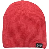 Under Armour Men's Basic Knit Beanie, Red/Black/Steel, One Size Fits All