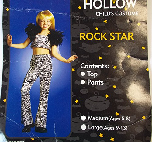 Rock Star Diva Zebra Print Child Costume 5-8 NIP
