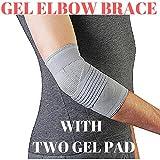 MEDIZED Gel Elbow Brace TENNIS GOLF BRACE ELBOW PAIN SUPPORT GUARD SPORTS GYM RSI ARTHRITIS RELIEF (Large)