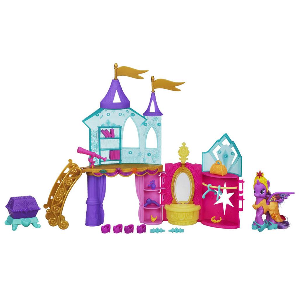 My little pony crystal castle palace playset princess twilight sparkle new ebay - Princesse poney ...