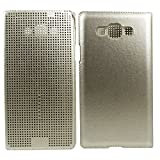 Heartly Dot View Touch Sensative Flip Thin Hard Shell Premium Bumper Back Case Cover For Samsung Galaxy E7 SM-E700F...