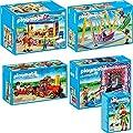PLAYMOBIL� Summer Fun Freizeitpark 5-teiliges Set 5546 5547 5549 5553 5555 Smileyworld Ballonverk�ufer + Dosen-Schie�bude + Kleinbahn + Schiffschaukel + S��igkeitenstand
