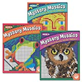 img - for Mystery Mosaics, Books 1, 2, 3: Color to Reveal Hidden Pictures, Set of 3 Books book / textbook / text book