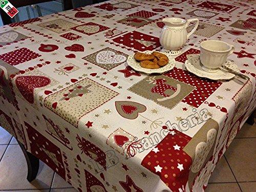 Tovaglia natalizia fantasie a tavola per un natale - Tovaglie da cucina ...