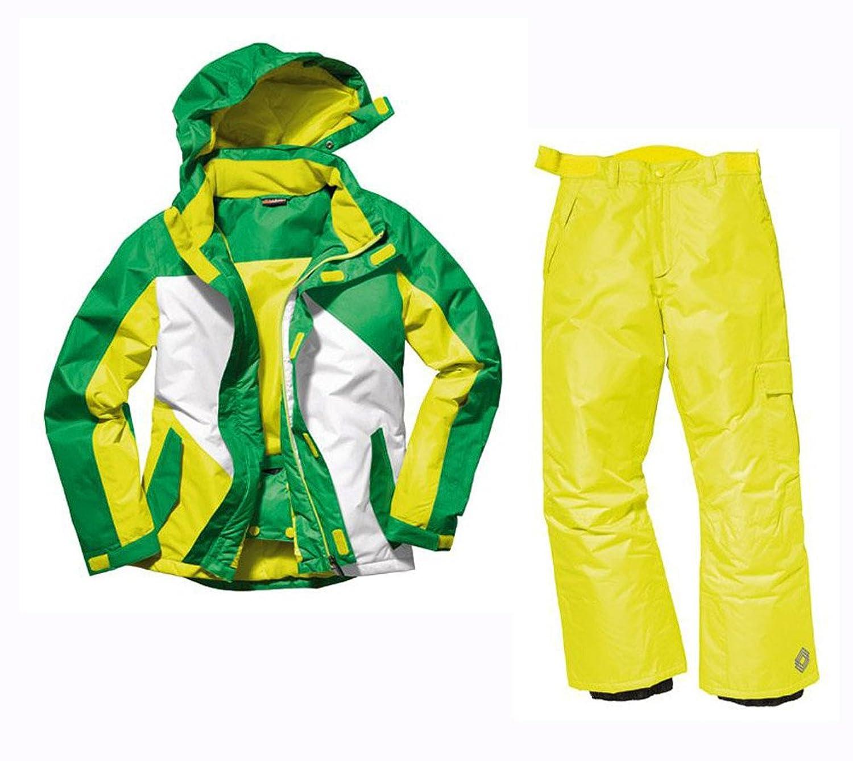 Jungen Snowboardanzug Snowboardjacke & Snowboardhose Set Schneeanzug 158/164 NEU grün online kaufen