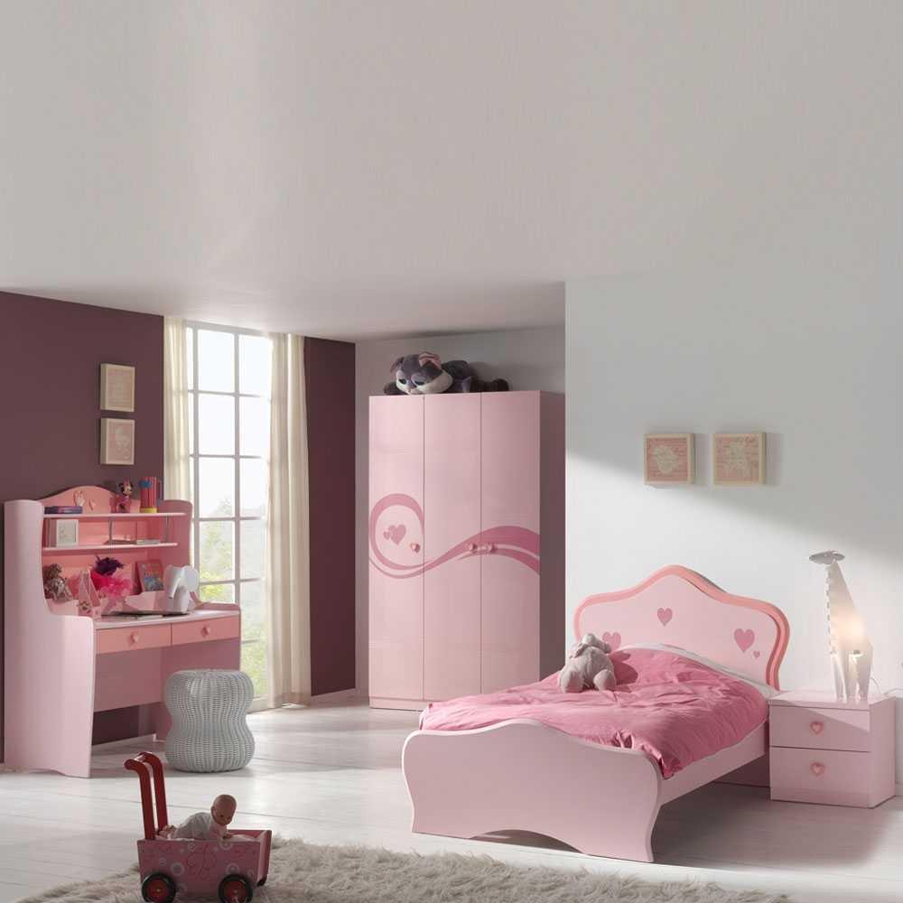 Mädchen-Kinderzimmermöbel Hearty in Rosa (4-teilig) Pharao24 günstig bestellen