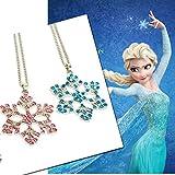 Frozen Snow Style Necklace (Blue Color)
