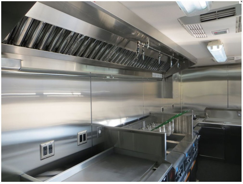 5ft Mobile Kitchen Hood System with Exhaust Fan