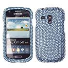 Fincibo (TM) Samsung Galaxy S III mini i8190 Bling Crystal Full Rhinestones Diamond Protector Cover Case - Light Teal