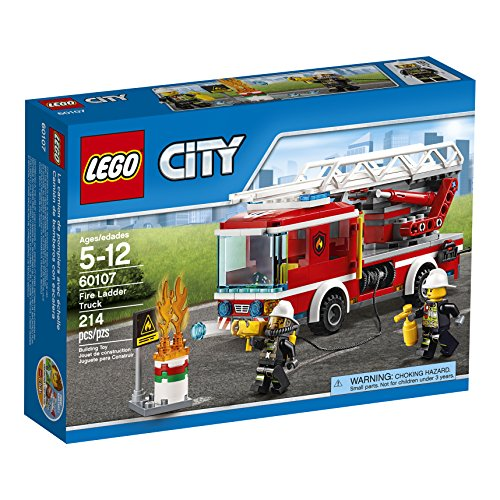 LEGO CITY Fire Ladder Truck 60107 (Lego City Truck compare prices)