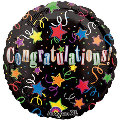 Anagram International 2201101 Congratulations Foil Balloon Pack, 18""