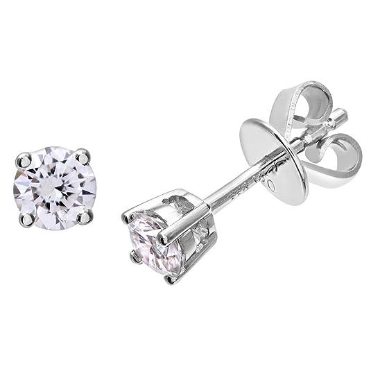 Naava IJ/I Certified Round Brilliant Diamonds Platinum Stud Earrings