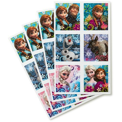 Disney Frozen Stickers - 72 Per Pack - Birthday Party Favors and Craft Activities