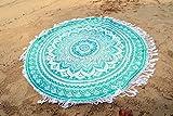 OMBRE rund Mandala Quaste Fransen Beach Überwurf Roundie Yogamatte Tischdecke