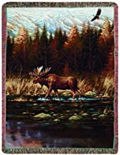 Manual Fringed 50 x 60-Inch Tapestry Throw Autumn Memories