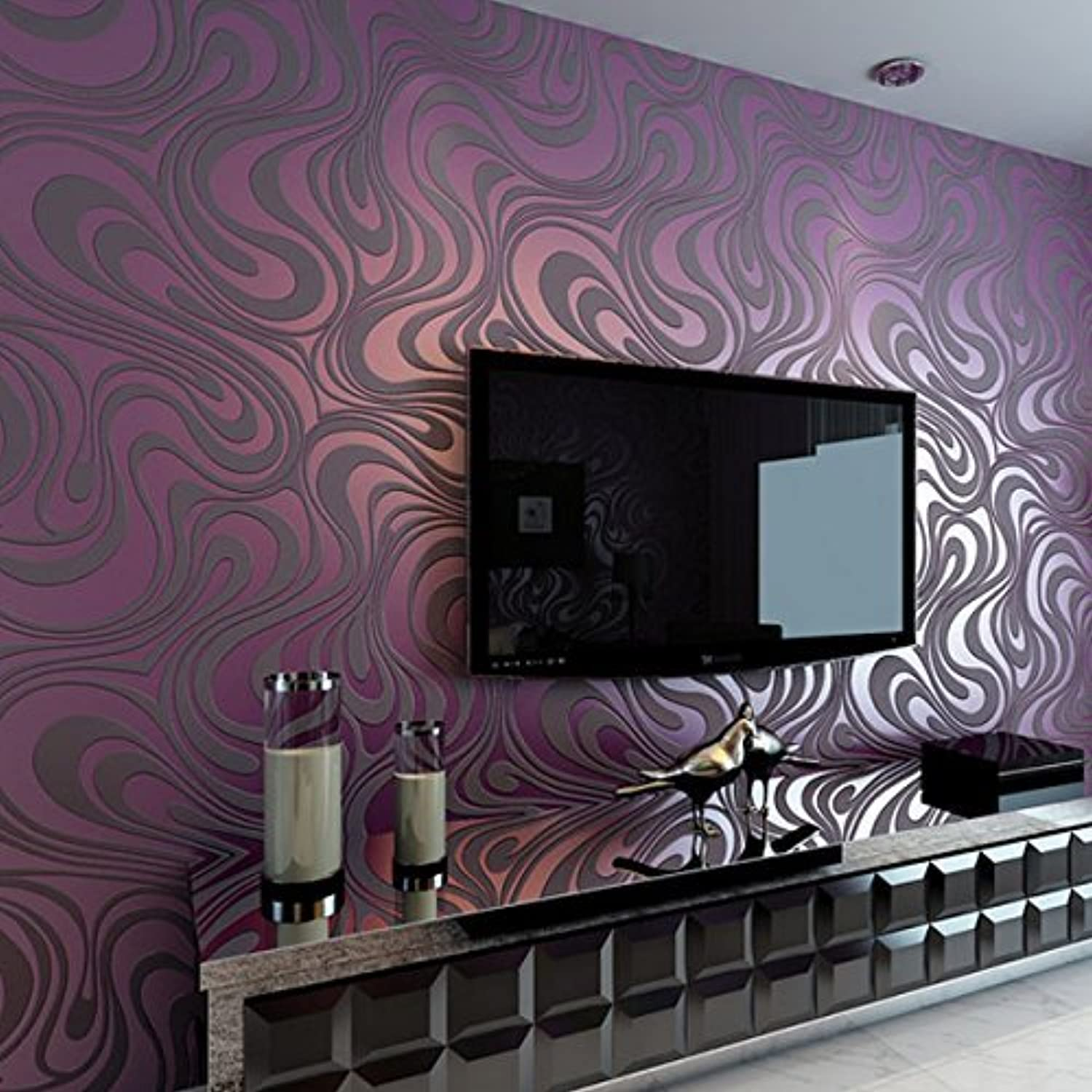 Non Woven Wallpaper Modern Minimalist 3d Sprinkle Gold And