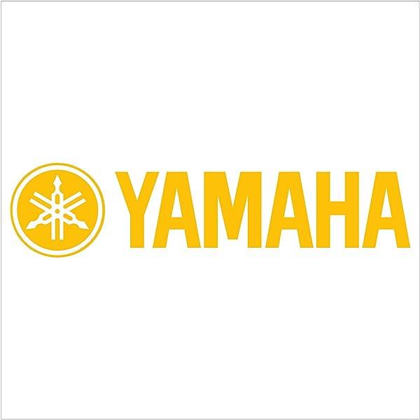 2x Yamaha Racing Decal Sticker (New) Yellow Size 8''x1.75''
