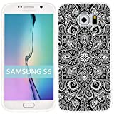 ChiChiC Floral Series Slim TPU Case for Samsung Galaxy S6 - Beautiful black Deco Mandala Amulet