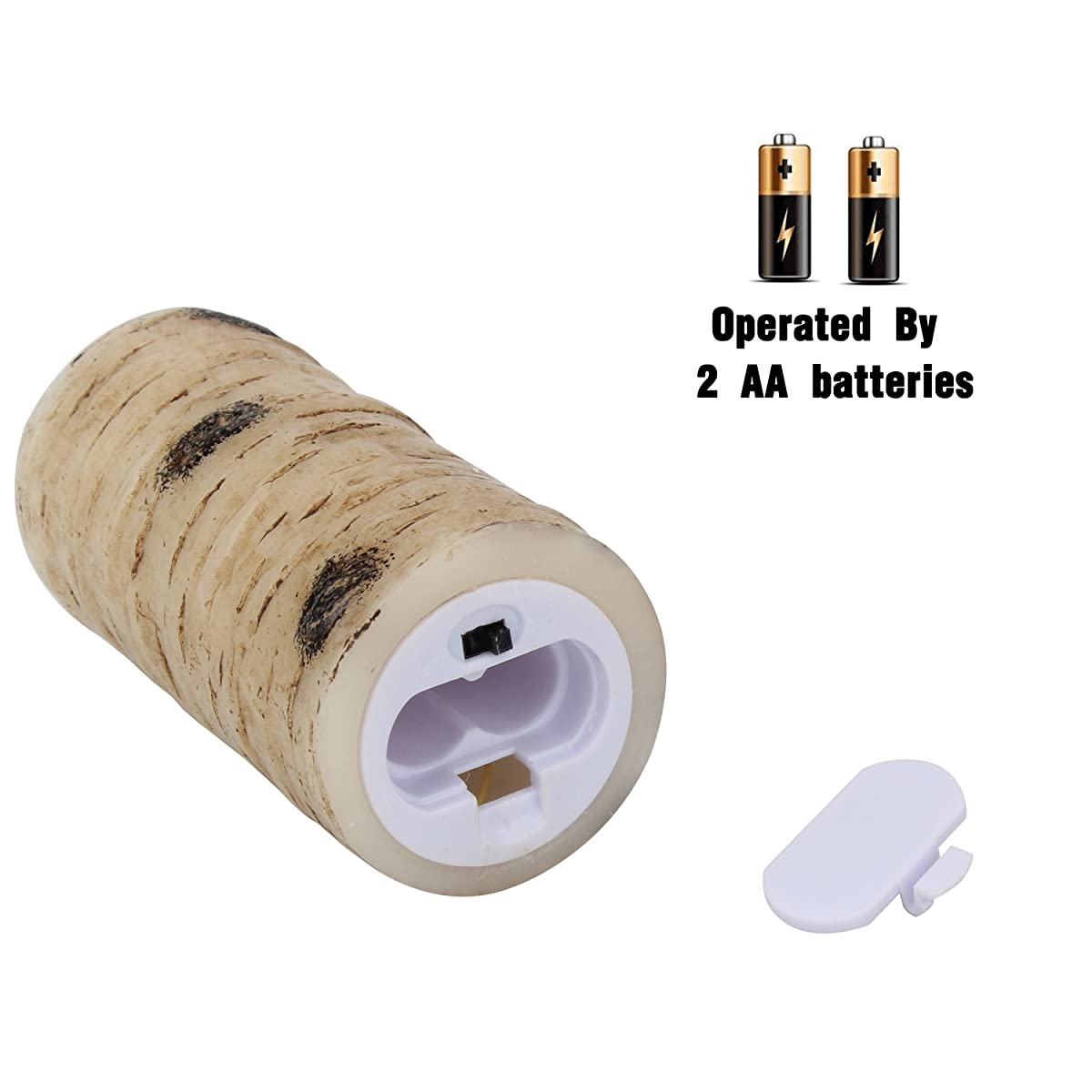 "Vinkor Flameless Candles Battery Operated Candles Birch Bark Effect 4"" 5"" 6"" 7"" 8"" 9"" Set of 9 Ivory Real Wax Pillar LED Candles with Real Wax Pillar With 10-key Remote Control 2/4/6/ 8 Hours Timer"