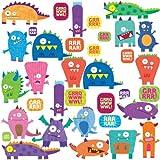 RoomMates RMK1472SCS Monsters Peel & Stick Wall Decals