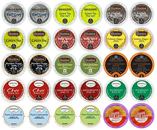 30-count TOP BRAND TEA K-Cup Variety Sampler Pack, Single-Serve Cups for Keurig Brewers (Single Tea Brewer compare prices)
