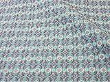 ナスカ リレ・スキップ キルト 生地 綿80% 麻20% 約108cm巾×50cmカット col.2C CFK10004